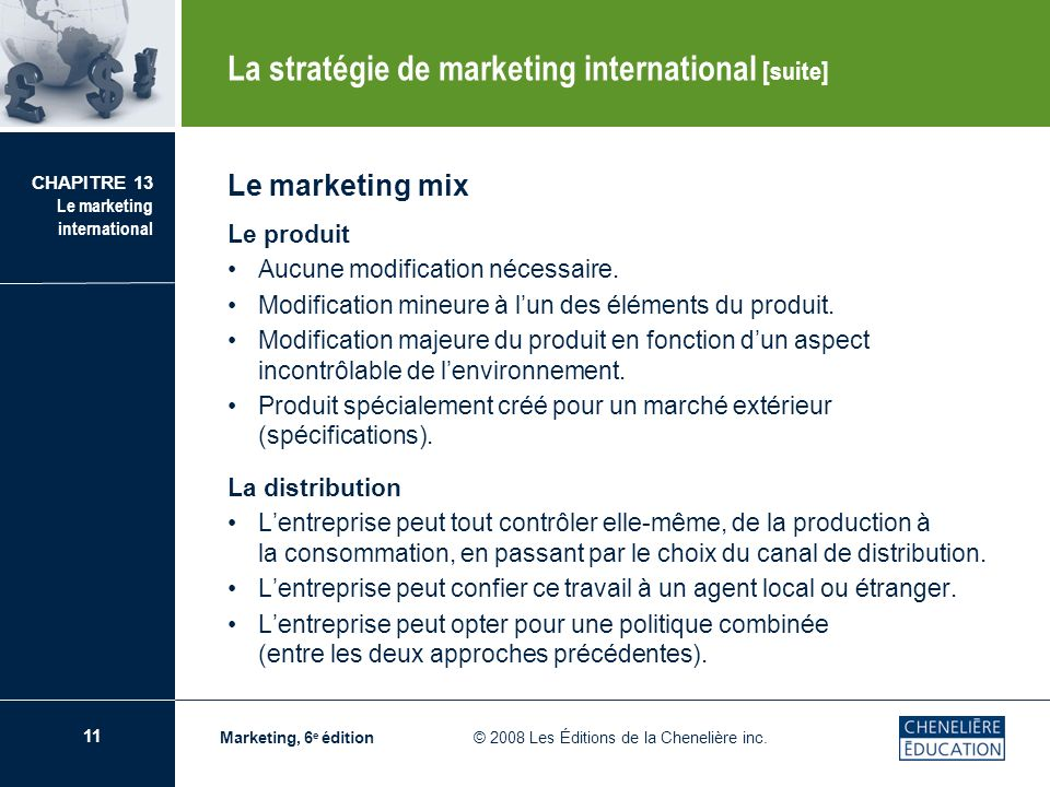 La stratégie de marketing international [suite]